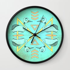 Aztec swan Wall Clock