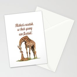 Mothers Giraffe and Calf Stationery Cards