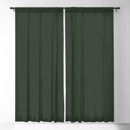 Pray for Snow Forest Green Blackout Curtain