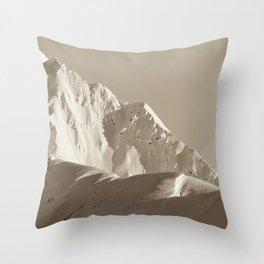 Alaskan Mts. - Mono I Throw Pillow