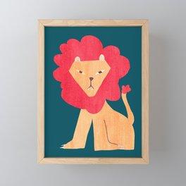 Ferocious lion Framed Mini Art Print