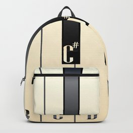 Piano Keys Note Names Backpack