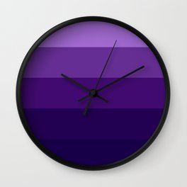 Purple Lavender Indigo Stripes Wall Clock