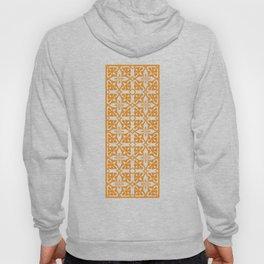 Ethnic tile pattern orange Hoody
