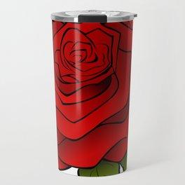 Cartoon Beautiful Rose Travel Mug