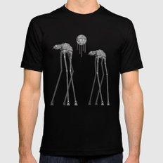 Dali's Mechanical Elephants - Black Sky Black Mens Fitted Tee MEDIUM
