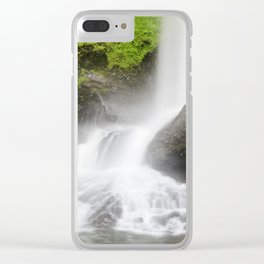 Pacific Northwest Adventure - Long Exposure Waterfall | Silver Falls Clear iPhone Case