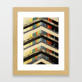 Chevrons Framed Art Print