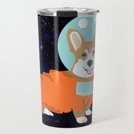 Corgi spacedog astronaut outer space red corgis dog portrait gifts Travel Mug