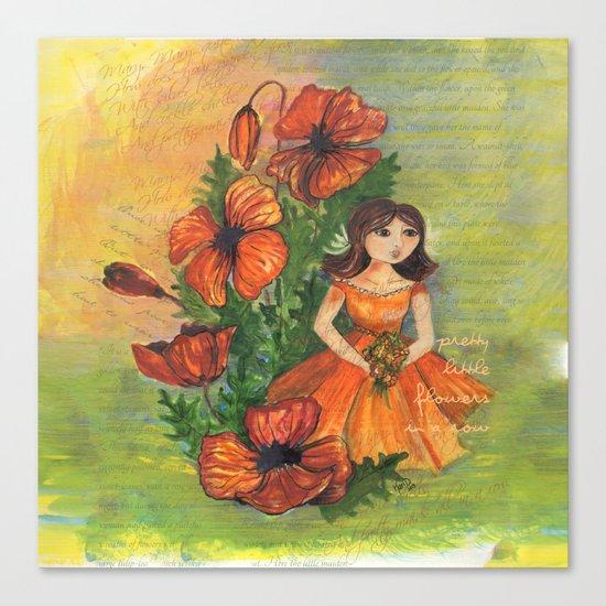 Pretty flowers in a row Canvas Print