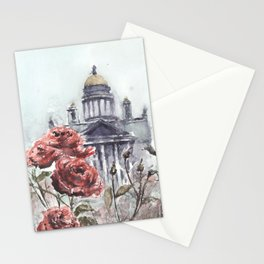 St. Isaac's Cathedral and Roses Stationery Cards