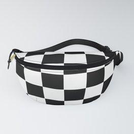 Checker Cross Squares Black & White Fanny Pack