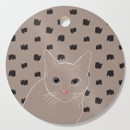 Cat stare Cutting Board