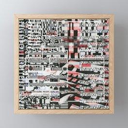 Click-N-Fail (P/D3 Glitch Collage Studies) Framed Mini Art Print