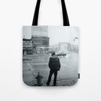baltimore Tote Bags featuring Baltimore by Nick Coleman