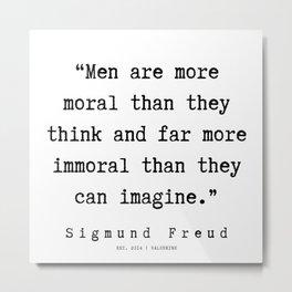 51|   Sigmund Freud Quotes | 190926 Metal Print