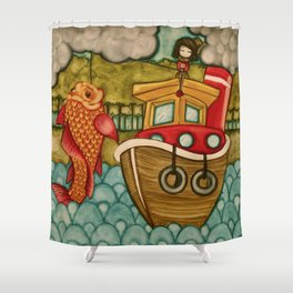 Wrong Catch Shower Curtain