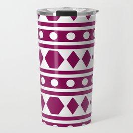 Marsala Tribal Pattern Travel Mug