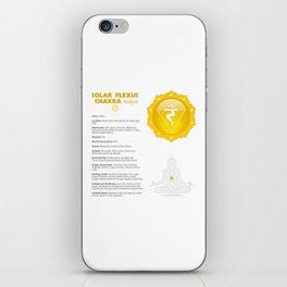 Solar Plexus - Manipura Chart & Illustration iPhone Skin