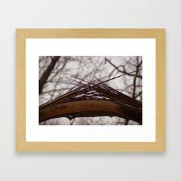 Splintered ends Framed Art Print