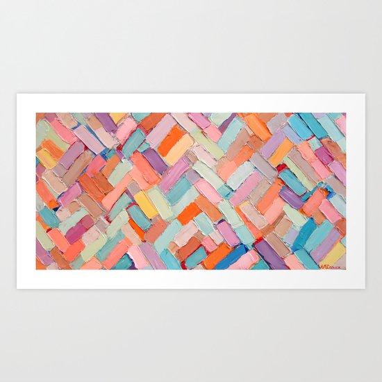 Hot Pink Internodes Art Print