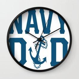 I'M A NAVY DAD Wall Clock