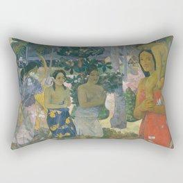Paul Gauguin - Ia Orana Maria (Hail Mary) (1891) Rectangular Pillow