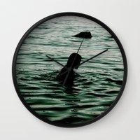 siren Wall Clocks featuring SIREN by Taryn Jayne