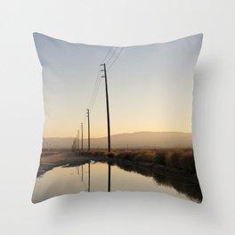 Telephone Reflection Throw Pillow