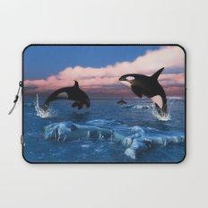 Killer whales in the Arctic Ocean Laptop Sleeve
