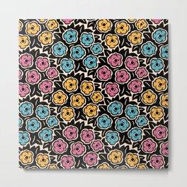 Mid Century Modern Flower Bouquet Pattern 951 Metal Print