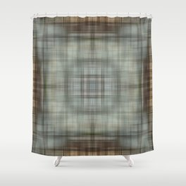 Modern Abstract Plaid Shower Curtain