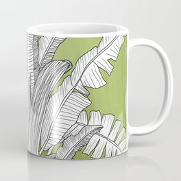 Banana Leaves Illustration - Green Coffee Mug
