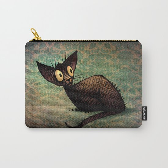 Black Oriental Cat Carry-All Pouch