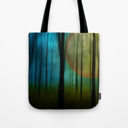 Full Moon Forest Tote Bag