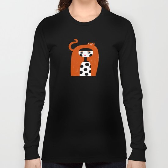 ORANGE LONG HAIR Long Sleeve T-shirt