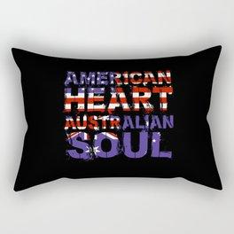 American Australian Rectangular Pillow