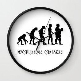 evolution man beer Wall Clock