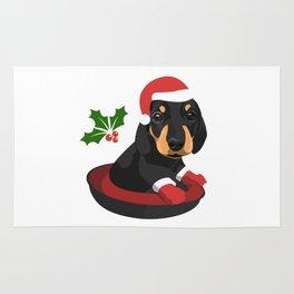 Puppy Christmas Rug
