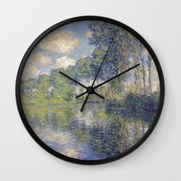 1891-Claude Monet-Poplars on the Epte-81 x 81 Wall Clock