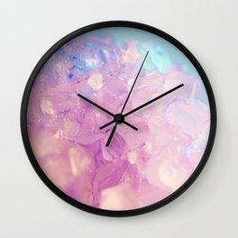Purple Spiritual Quartz Crystal Wall Clock
