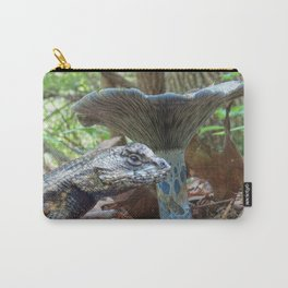 Blue Lizard and a Blue Mushroom Carry-All Pouch