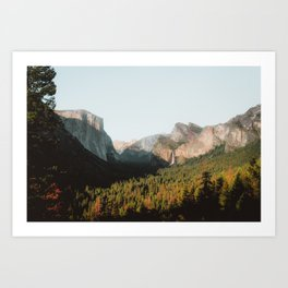 Yosemite at Sunset Art Print