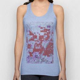 Vintage Map of Las Vegas Nevada (1967) Unisex Tank Top