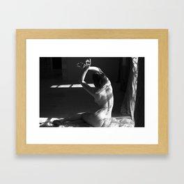 Gwen's Backside at the Window 2 Framed Art Print