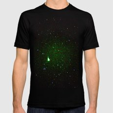 space noise. Mens Fitted Tee LARGE Black