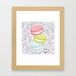 For the Love of Macarons Framed Art Print