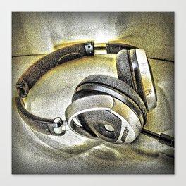Headphones III Canvas Print