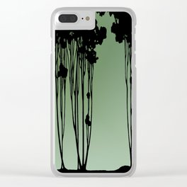 Forest Silhouette by Seasons K Designs Clear iPhone Case