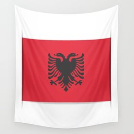 Flag of Albania, officially the Republic of Albania. Vector illustration of a stylized flag. Wall Tapestry